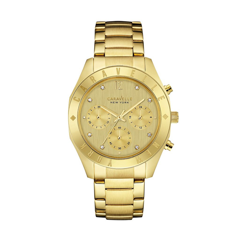 Caravelle New York by Bulova Women's Crystal Stainless Steel Chronograph Watch - 44L213