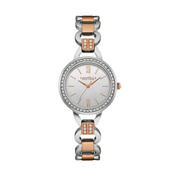 Caravelle New York by BulovaWomen's Crystal Two Tone Stainless Steel Watch - 45L157