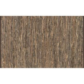 Loloi Edge Natural Textured Leather & Jute Rug