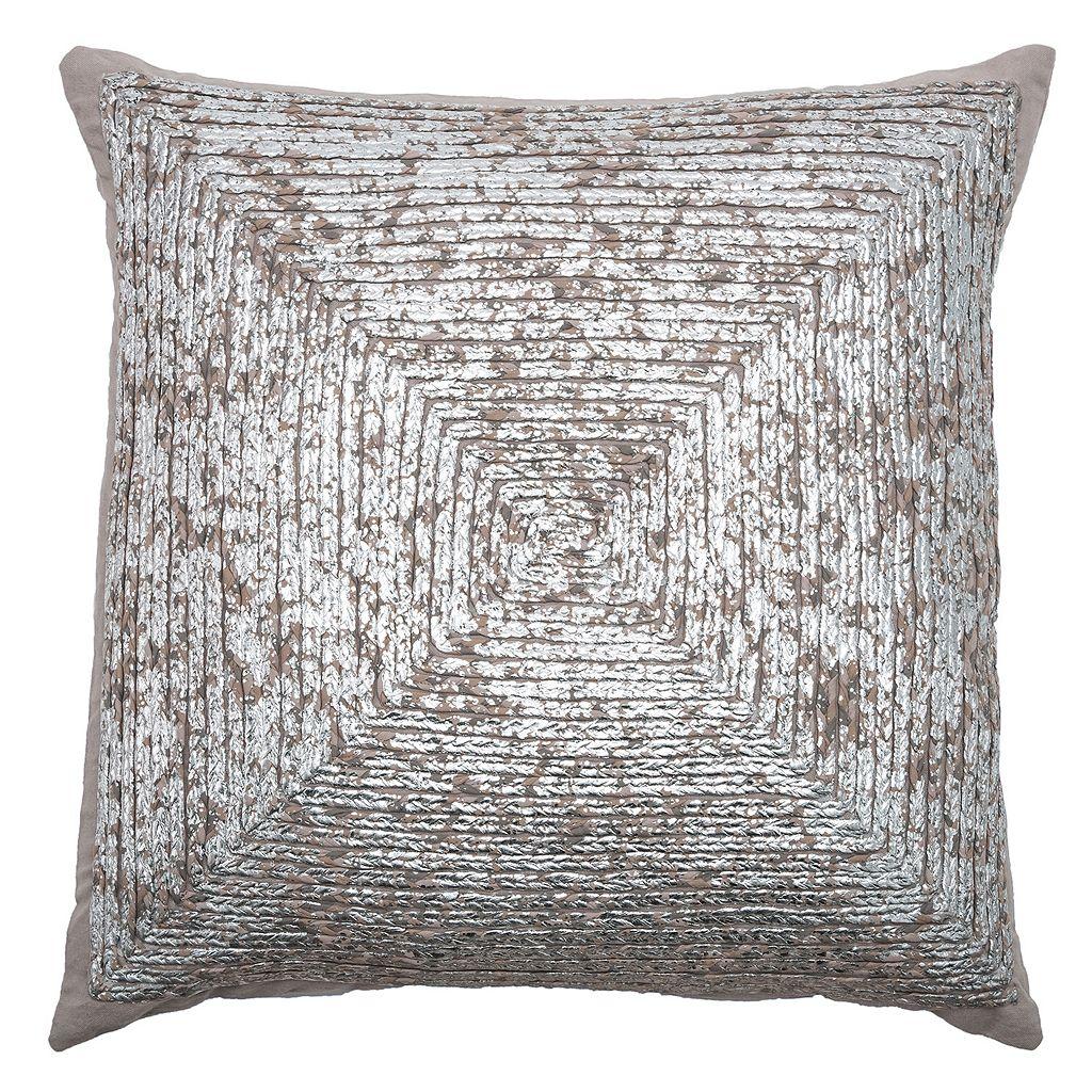Rizzy Home Metallic Throw Pillow