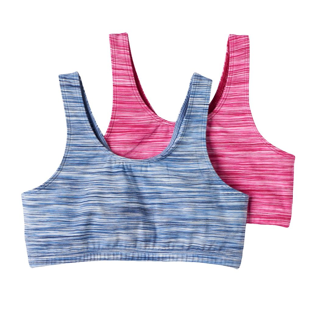 Girls SO® 2-pk. Space-Dyed Sports Bras