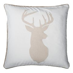 Rizzy Home Deer Head Throw Pillow