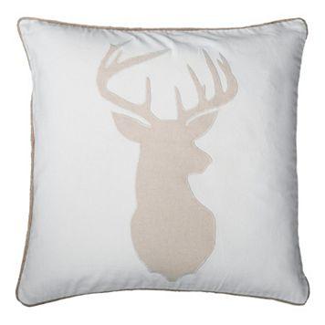 Rizzy Home Deer Head Throw Pillow
