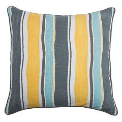 Rizzy Home Wavy Stripe Throw Pillow