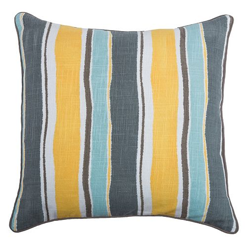 Rizzy Home Wavy Stripe Throw Pillow