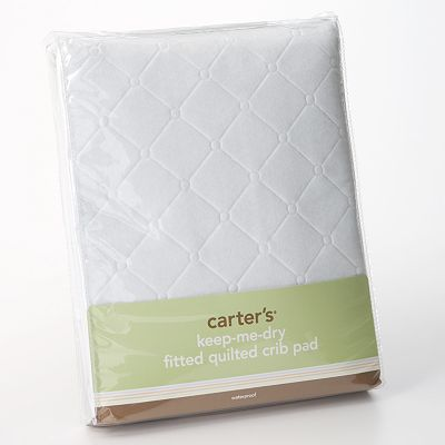 Carter's Keep-Me-Dry Fitted Quilted Crib Pad