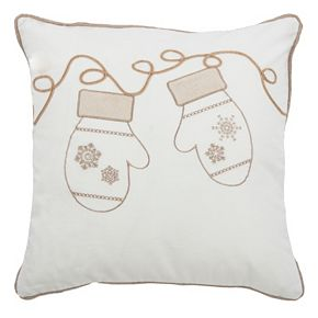 Rizzy Home Snow Mittens Throw Pillow