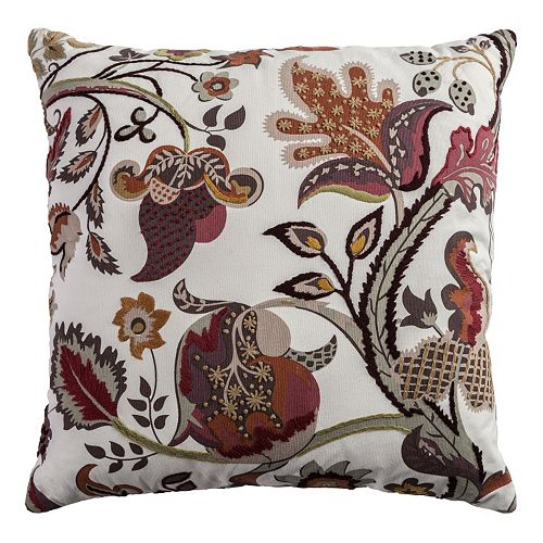 Rizzy Home Embroidered Country Throw Pillow