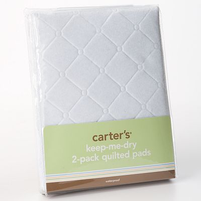 Carter's Keep-Me-Dry Flat 2-pk. Quilted Pads - White