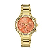 Caravelle New York by BulovaWomen's Crystal Stainless Steel Chronograph Watch