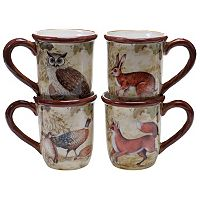 Certified International Rustic Nature 4 pc Coffee Mug Set