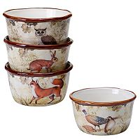 Certified International Rustic Nature 4 pc Ice Cream Bowl Set