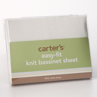 Carter's Easy-Fit Knit Bassinet Sheet - Ecru