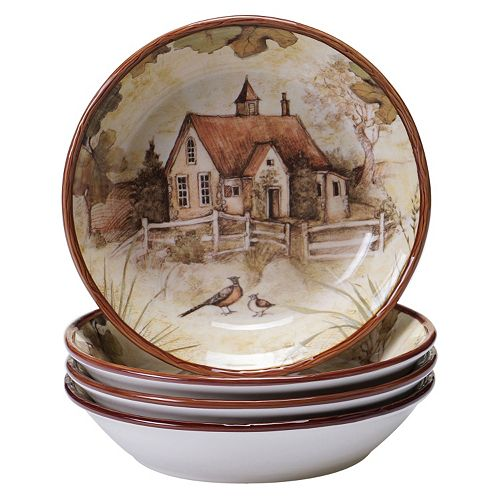 Certified International Rustic Nature 4-pc. Soup / Cereal Bowl Set