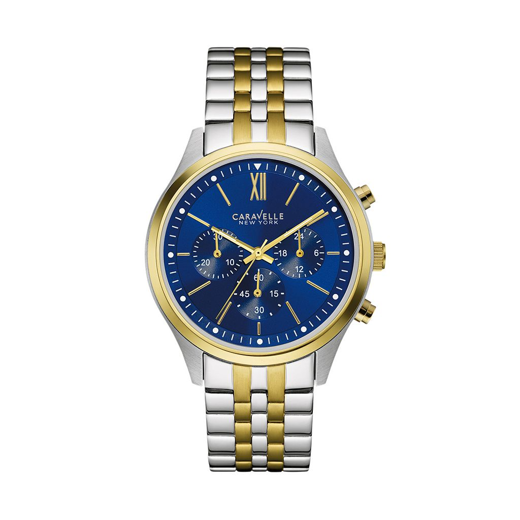 Caravelle New York by Bulova Men's Two Tone Stainless Steel Chronograph Watch - 45A131