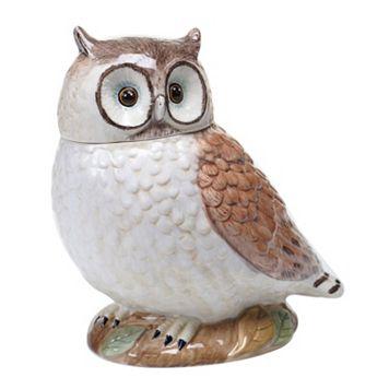Certified International Rustic Nature Owl 10-in. Cookie Jar
