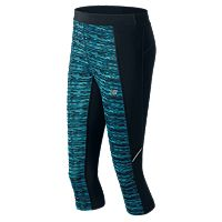 Women's New Balance Printed Accelerate Capri Workout Leggings