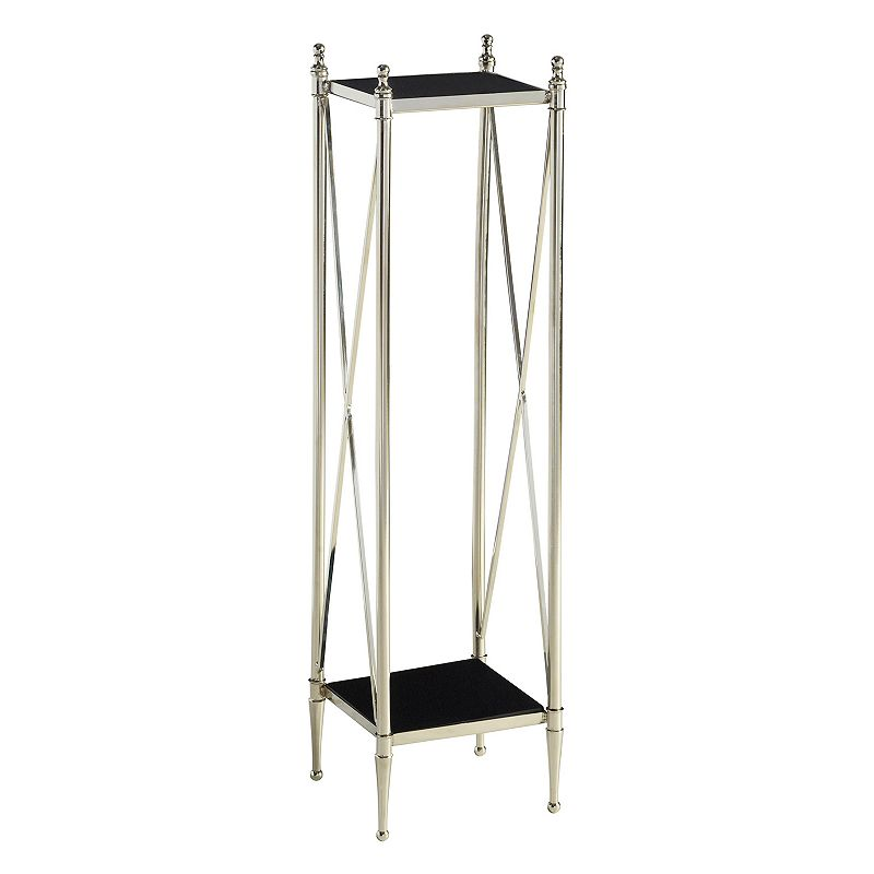 Bombay Destin Cross Bar Plant Stand Table, Black