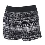 Juniors' Joe B Crochet-Waist Gauze Shortie Shorts