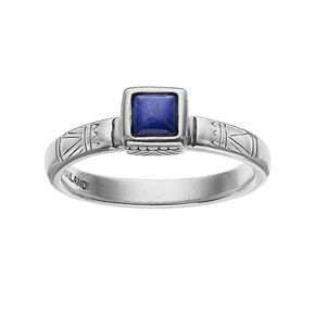 Sterling Silver Lapis Lazuli Cabochon Ring