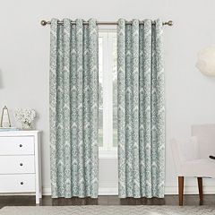 Sun Zero Blackout 1-Panel Claudine Lined Window Curtain