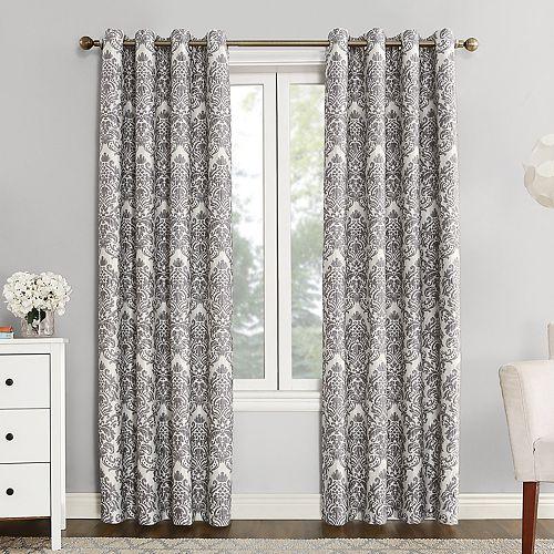 Sun Zero Blackout 1-Panel Claudine Lined Window Curtain