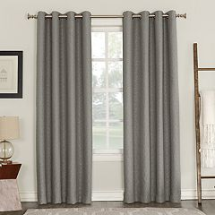 Sun Zero Blackout 1-Panel Talin Lined Window Curtain