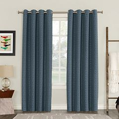 Sun Zero Blackout 1-Panel Talin Lined Window Curtain