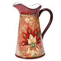 Certified International Spice Flowers 2.75-qt. Pitcher