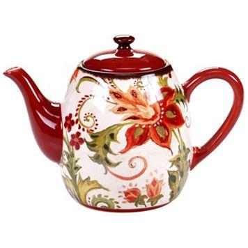 Certified International Spice Flowers 40-oz. Teapot