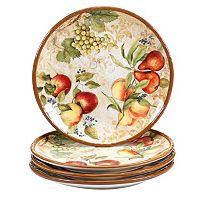 Certified International Capri 4-pc. Dinner Plate Set