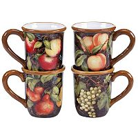 Certified International Capri 4-pc. Coffee Mug Set
