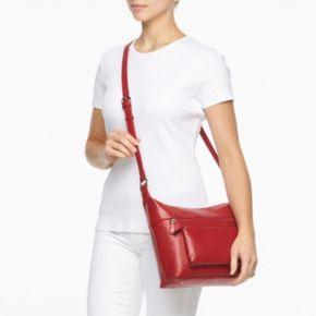 ili Leather Front Pocket Crossbody Bag