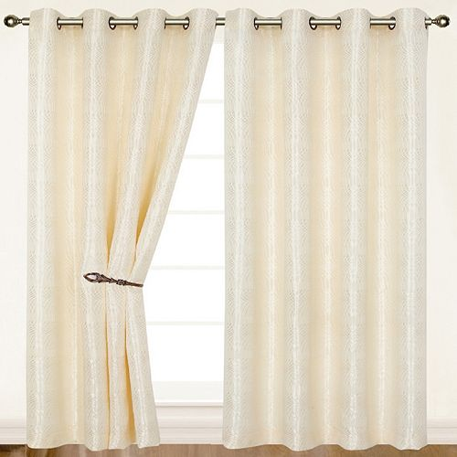 Dainty Home 2-pack Helen Window Curtains - 55'' x 84''