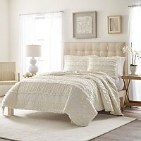 Stone Cottage Ruffle Quilt Set
