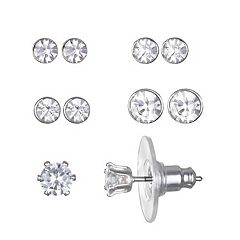 LC Lauren Conrad Enchanted Simulated Crystal Stud Earring Set
