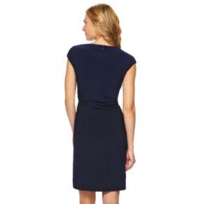 Women's Chaps Jeweled Pleated Evening Dress