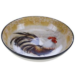 Certified International Vintage Rooster 13-in. Pasta Serving Bowl