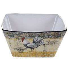 Certified International Vintage Rooster 10.25 in Deep Serving Bowl