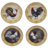 Certified International Vintage Rooster 6.25-in. Canape Plate Set