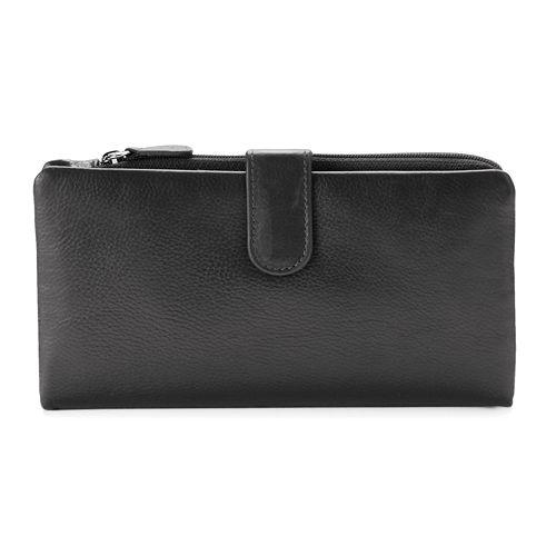 ili RFID-Blocking Tab Leather Bifold Wallet