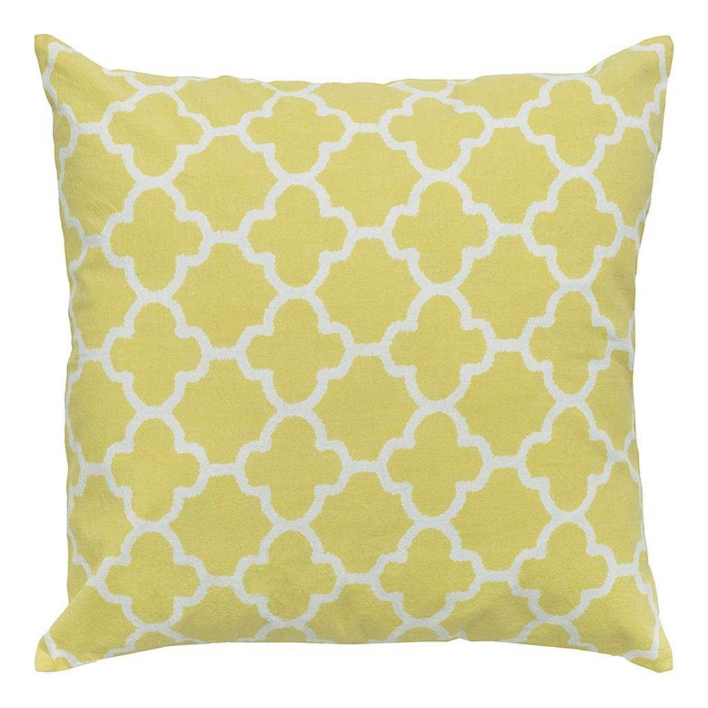 Rizzy Home Trellis Throw Pillow