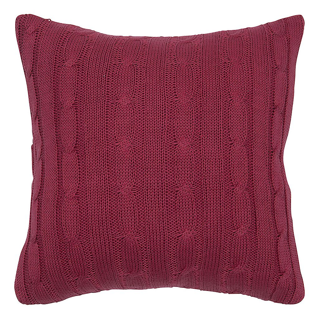 Rizzy Home Cable Knit Throw Pillow