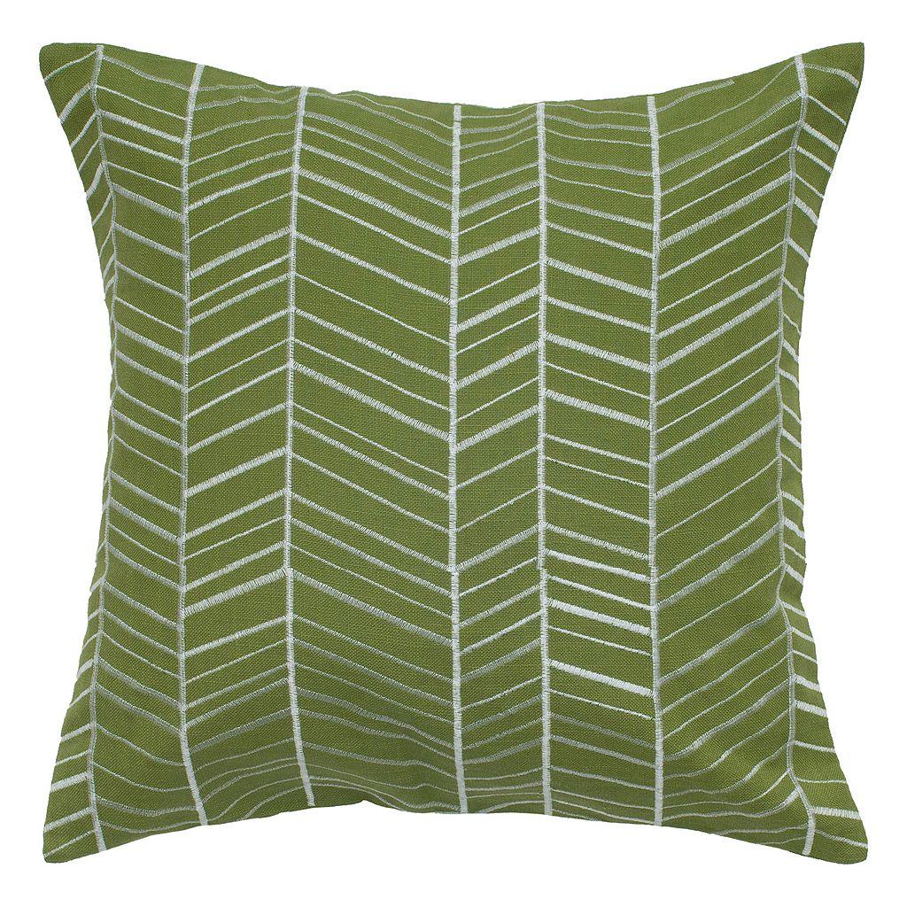 Rizzy Home Stripe Geometric Throw Pillow