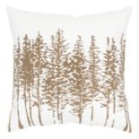 Rizzy Home Pine Tree Silhouette Throw Pillow