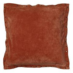 Rizzy Home Studded Velvet Throw Pillow