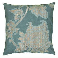 Rizzy Home Violet Floral Throw Pillow