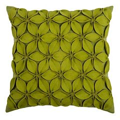 Rizzy Home Applique Felt Leaves Throw Pillow
