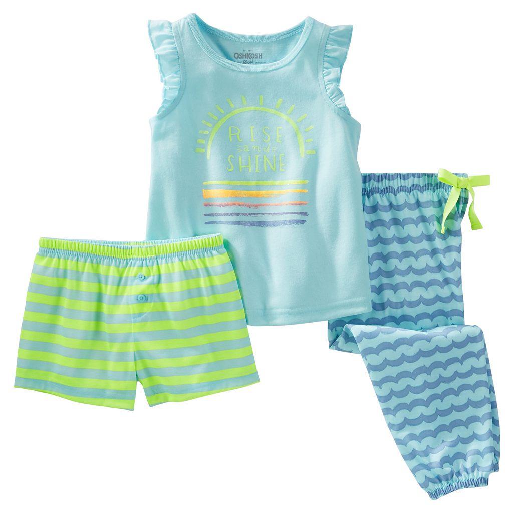 Girls 4-12 OshKosh B'gosh® Print 3-Piece Pajama Set