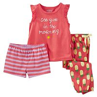 Girls 4-12 OshKosh B'gosh® Print 3-Piece Pajama Set